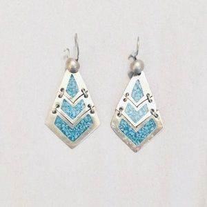 Native American Turquoise/Silver Earrings